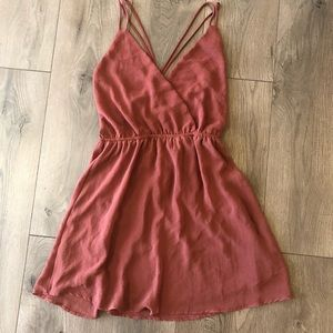 LUXE Boutique Maroon Strappy Dress